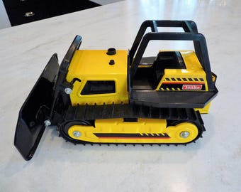 Vintage Tonka Toy 1990's Pressed Steel  Bulldozer, New out of Box, MINT  N.O.S., Small Diecast Tonka included free with purchase!