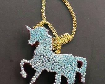 Resin Unicorn necklace