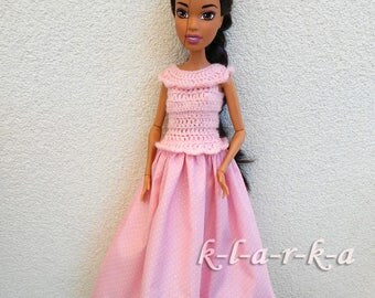 Dress for Barbie 17 inch or Elolwyne doll..