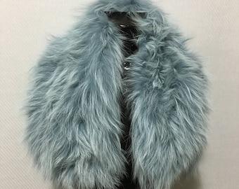 Genuine Real Sea Color Fur Collar
