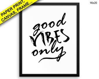 Good Vibes Prints Good Vibes Canvas Wall Art Good Vibes Framed Print Good Vibes Wall Art Canvas Good Vibes Minimalist Art Good Vibes Prints