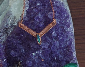 Cultured Opal in Copper Necklace