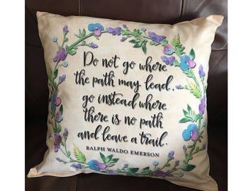 Follow Path Emerson Throw Pillow