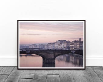 Florence Print, Digital Print, Wall Art, City Print, Italy Print