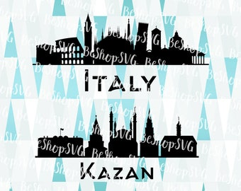 Italy SVG, Kazan SVG, Cities SVG, Rome Svg, Russia Svg, Instant download, Eps - Dxf - Png - Svg