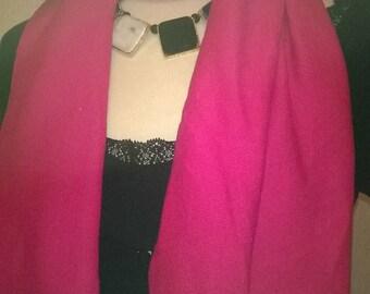 Cotton and elastane fuchsia color scarf
