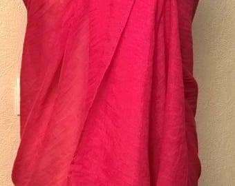 Sarong in fuchsia color pure cotton
