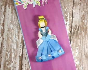 Cinderella Ribbon Sculpture, Cinderella Hair Clip, Princess Inspired Hair Clip, Girls Hair Accessories