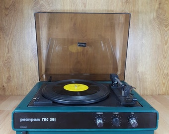 """Gramophone - Old turntable - In working condition - Gramophone """"RESPROM - GES 321"""""""