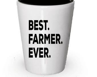 Farmer Shot Glass, Best Farmer Ever, Farmer gift, Gift for Farmer , Birthday Gift, Christmas Present