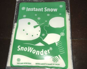 Small bag of instant snow