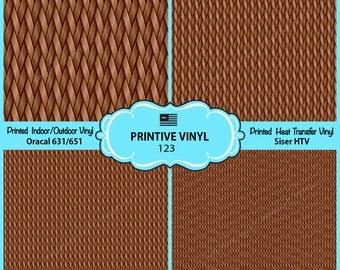 Basket weaving Printed Pattern Vinyl/Siser HTV/ Oracal/ Indoor Vinyl/ Outdoor Vinyl/ Heat Transfer Vinyl- 123