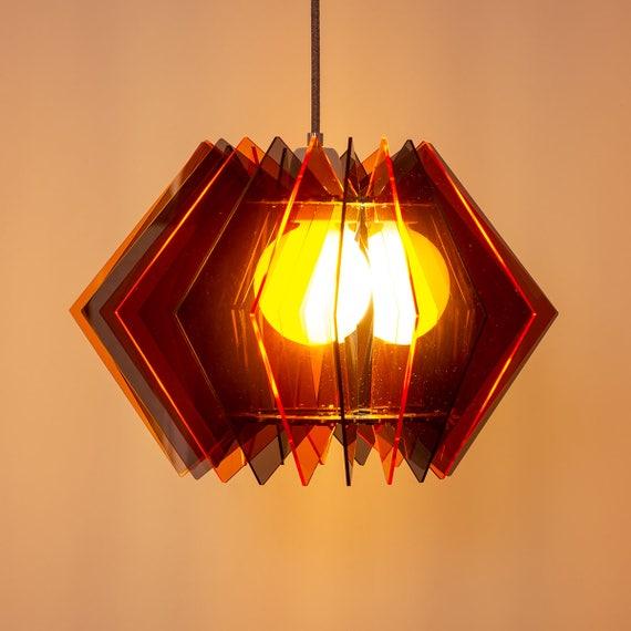 Designer Leuchte Acrylglas Farbige Moderne Wohnzimmerleuchte Helle Esstischleuchte Puristische Lampe 2017