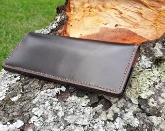 Personalized Leather Long Wallet  Slim Bifold Wallet  Card Holder Travel Wallet  Handmade Wallet Leather Wallet Men Women Wallet