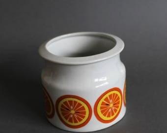 Vintage Arabia Finland Marmolade Bowl Raija Uosikkinen  Orange Motive