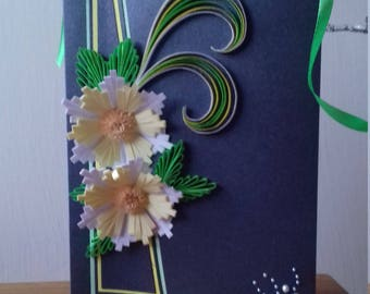 Quilled Greetings Card,  Floral Greetings Card,  Any Occasion Card, Blank Greeting Card