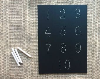 Traceboards - Traceable Chalkboard - Learning Toy - Numbers 1 through 10