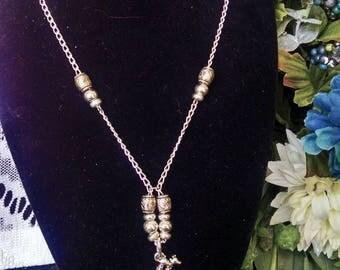 Silver Giraffe Pendant Necklace