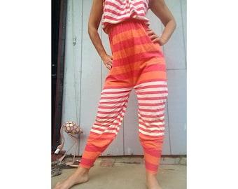 Stripes, orange, super cute jumpsuit