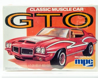 Rare Factory Sealed Vintage MPC Pontiac GTO Classic Muscle Car 1/25 Model 1-0748