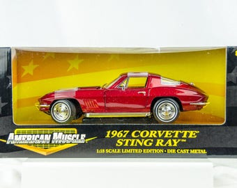 Ertl American Muscle Limited Edition 1967 Chevy Corvette Stingray 1/18 Diecast