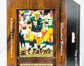 Ultra Rare 1996 Pacific Collection Green Bay Packers Brett Favre Plaque