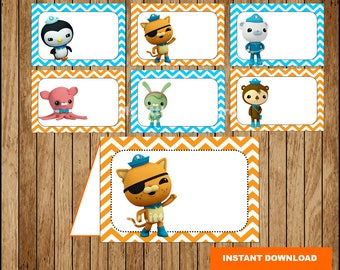 Octonauts Food labels, Printable Octonauts Food tent cards, Octonauts party Food labels Instant download