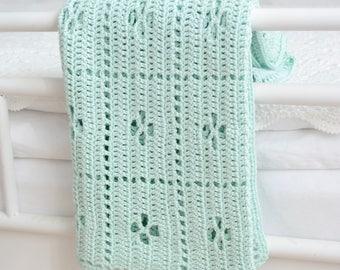 "Crocheted baby blanket ""Anna"""