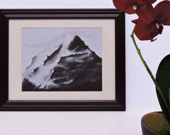 Foggy Mountain Giclée Print