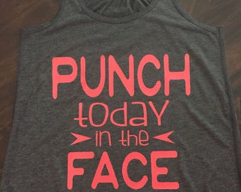 punch today in the face soft tank top