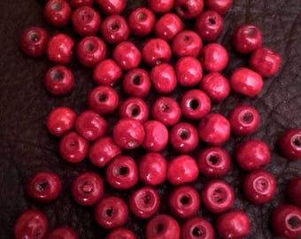 Round wooden beads - ref PB50R