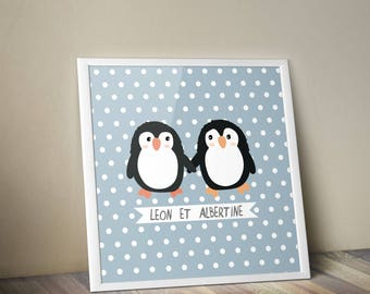 Deco poster baby penguins
