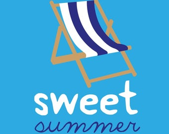 """Sweet summer sun lounger"" poster"