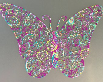 Swirly ButterflyVinyl Decal for Yeti, Phone, Laptop & more - You Choose Pattern + Color
