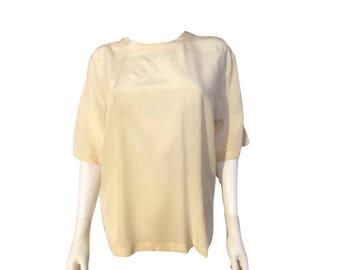 Vintage Silk Blouse, Vintage Silk Top,
