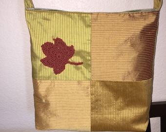 Maple Leaf Messenger Bag in Gold Orange