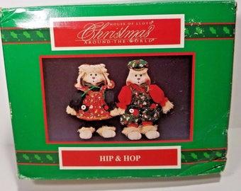 New Vintage House of LLoyd Christmas Around the World Porcelain Rag Doll Hip Hop