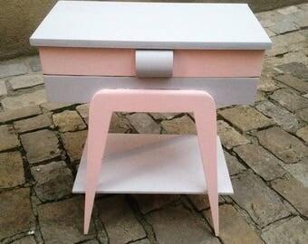 Vintage 50s revisited worker pink and grey matte