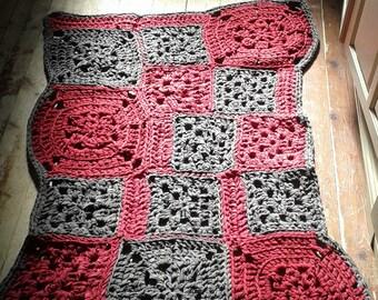 new handmade lycra crochet rug