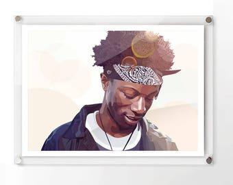 Joey Badass Inspired A2 Digital Download Print - Original Digital Art - Digital File ONLY