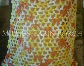 Honeycomb Fishnet Multicolor Summer Sun Crochet Ladies Top