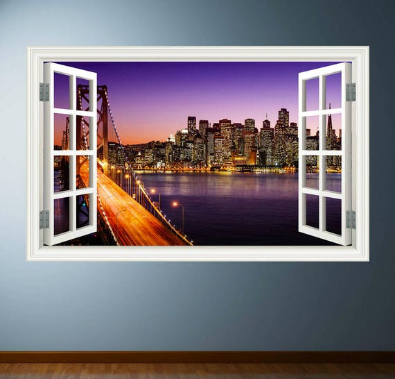 New York City Window 3D Wall Decal by My Sticky