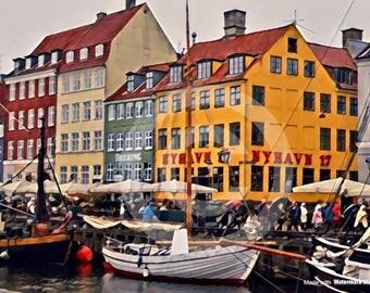 Original Photography of Nyhavn in Copenhagen, Denmark