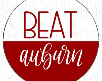 "12 Designs | Alabama Crimson Tide Beat 3"" Game Day Buttons Pins"