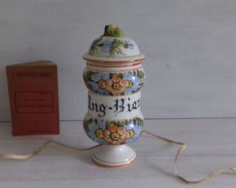 Canon pharmacy apothecary jar pot jar hand painted vintage porcelain Holland
