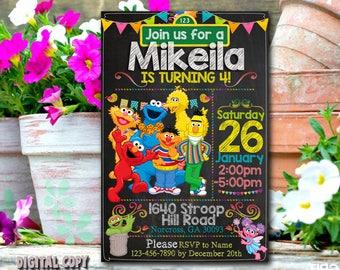 Sesame Street Invitation,Sesame Street Birthday,Sesame Street Party,Sesame Street Card,Sesame Street Printable,Sesame,Sesame Street_BS039