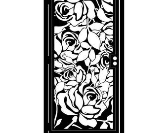 Metal Art Gate with Roses - Rose Garden Gate - Decorative Steel Flower Panel - Rose Wall Panel - Floral Steel Art - Floral Gate - Rose Gate