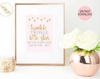 Twinkle Twinkle Baby Shower Sign- Twinkle twinkle little star- Twinkle twinkle