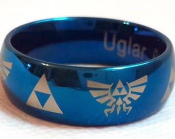 The Legend of Zelda Dome Ring Inspired by Legend of Zelda (Blue)