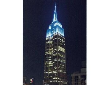 Blue Empire State Building. Canvas art print. New York. Manhattan